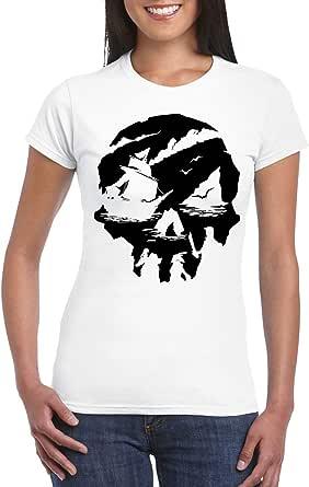 White Female Gildan Short Sleeve T-Shirt - Sea of Thieves design