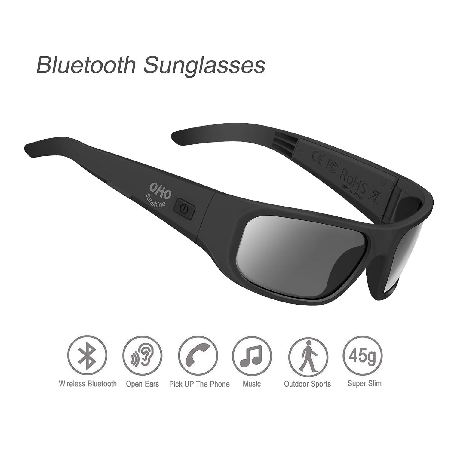 Amazon.com: Gafas de sol inalámbricas con Bluetooth, con ...