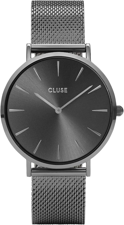 CLUSE Reloj Analógico para Mujer de Cuarzo con Correa en Acero Inoxidable CL18121