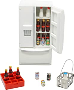 1:12 Dollhouse Refrigerator Set (26 Pieces) for Kitchen Room Furniture (White)
