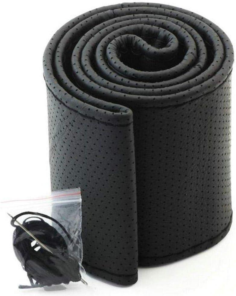 Renquen Couture de volant de voiture en daim avec aiguilles et fil Noir