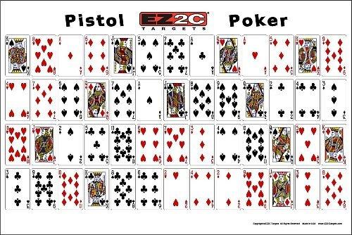 EZ2C Targets Pistol Poker (20 Pack) Playing Cards Shooting Game