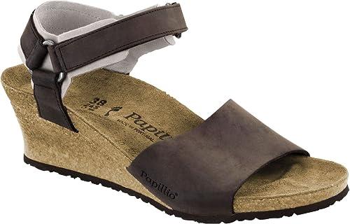 separation shoes a45d7 55b02 PAPILLIO BIRKENSTOCK EVE scarpe sandali zeppa pelle oliata