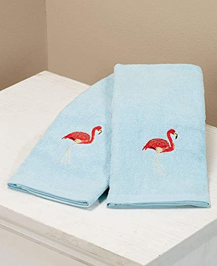 Bañera de Paraíso Flamingo de la Marca Avidla-Home 2 Toallas de Mano, 100