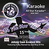 ASK-1547 Country Karaoke Vol 1. Karaoke Songs in the Style of a Country Legend, Featuring: Ghost Riders In The Sky, A Boy Named Sue, Cry, Cry, I Walk The Line, and More