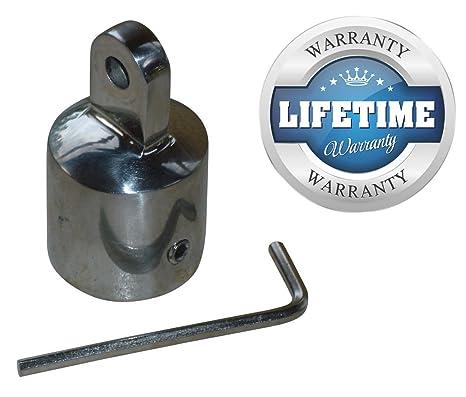 """Marina y RV directa 1 """"Bimini Top 316s embellecedores para extremos de acero inoxidable"""