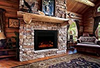 "Y Decor FP920 36"" Electric Fireplace Insert, Large, Black"