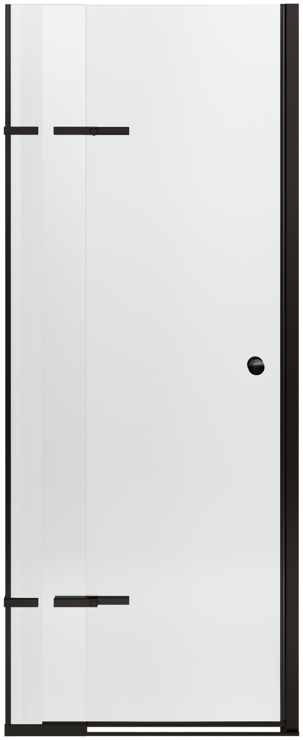 KOHLER K-709032-L-ABZ Underline Pivoting Shower Door, 69-1/2'' H x 28 to 31'' Width with Adjustable Hinges and 1/4'' Thick Crystal Clear Glass, Anodized Dark Bronze
