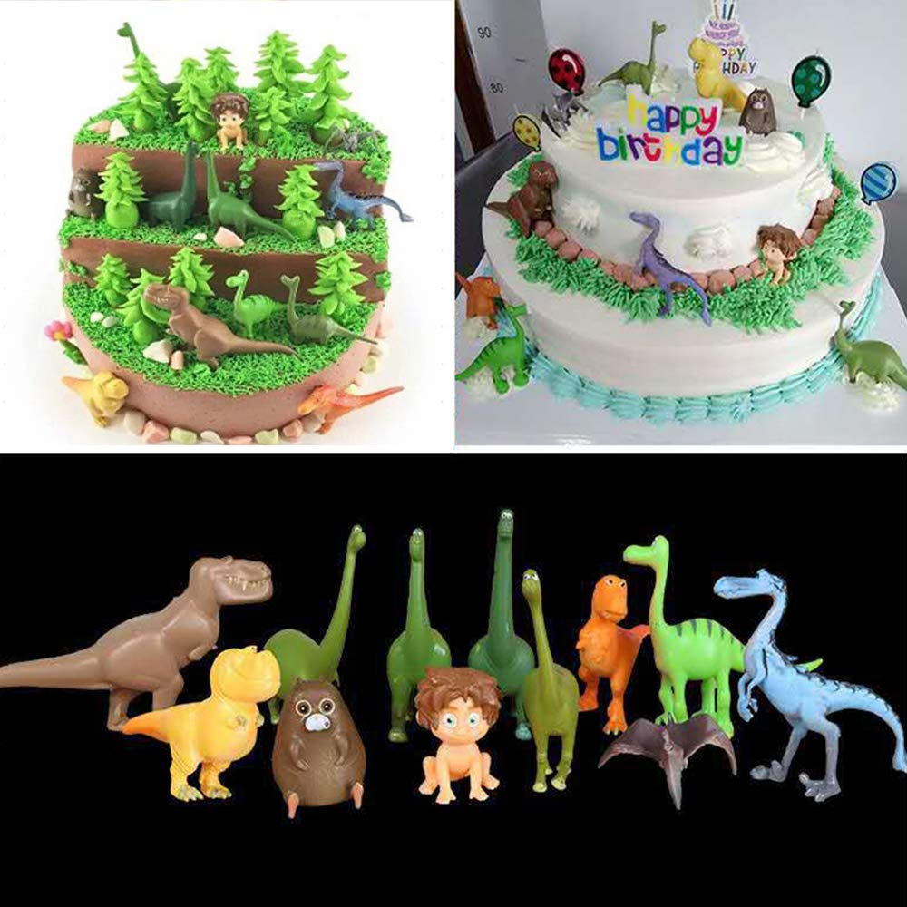 Strange Yothfly Dinosaur Birthday Cake Topper 12 Pcs Set Mini Figure Diy Funny Birthday Cards Online Alyptdamsfinfo