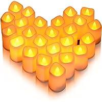 Litake Velas LED, 24PCS Luces de Té Sin Llama Velas Realistas Electrónicas Luz Blanca Cálida Funciona con Pilas para…