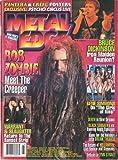 Metal Edge Magazine May 1999 Rob Zombie, Kiss, Iron Maiden