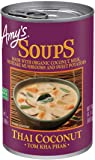Amy's Organic Soups, Thai Coconut (Tom Kha Phak), 14.1 Ounce (Pack of 12)