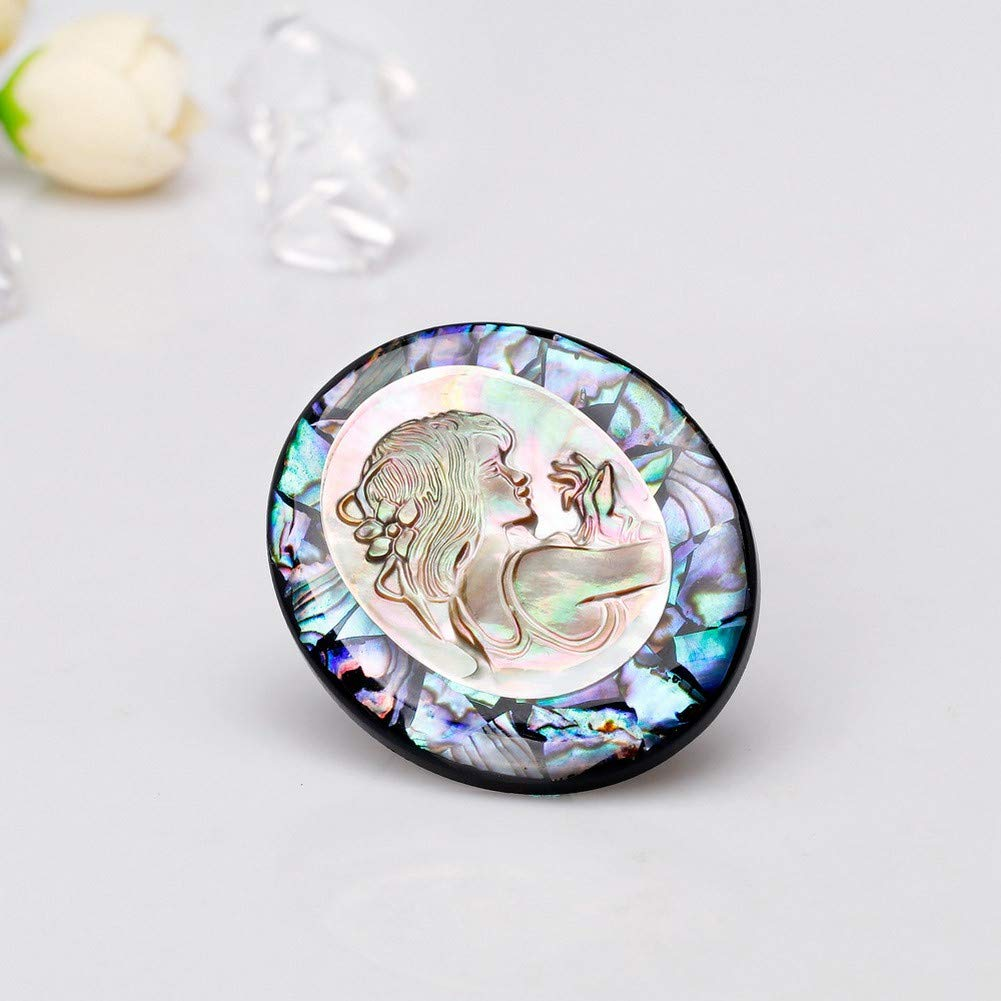 DDLLA Natural Abalone Shell Brooch Pins Beauty Avatar Jewelry Womens Brooch Pins for Clothing Broaches for Women Pins for Jackets Gifts for Women Wedding Accessories Fashion Cute Pins