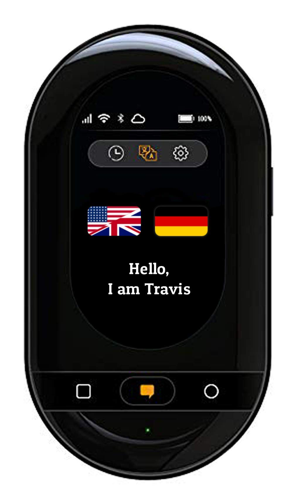 Travis Touch Smart Pocket Translator - 1GB Global Data SIM Card incl, Two  Way Translations, Online/Offline Mode, Touch Screen, Hotspot