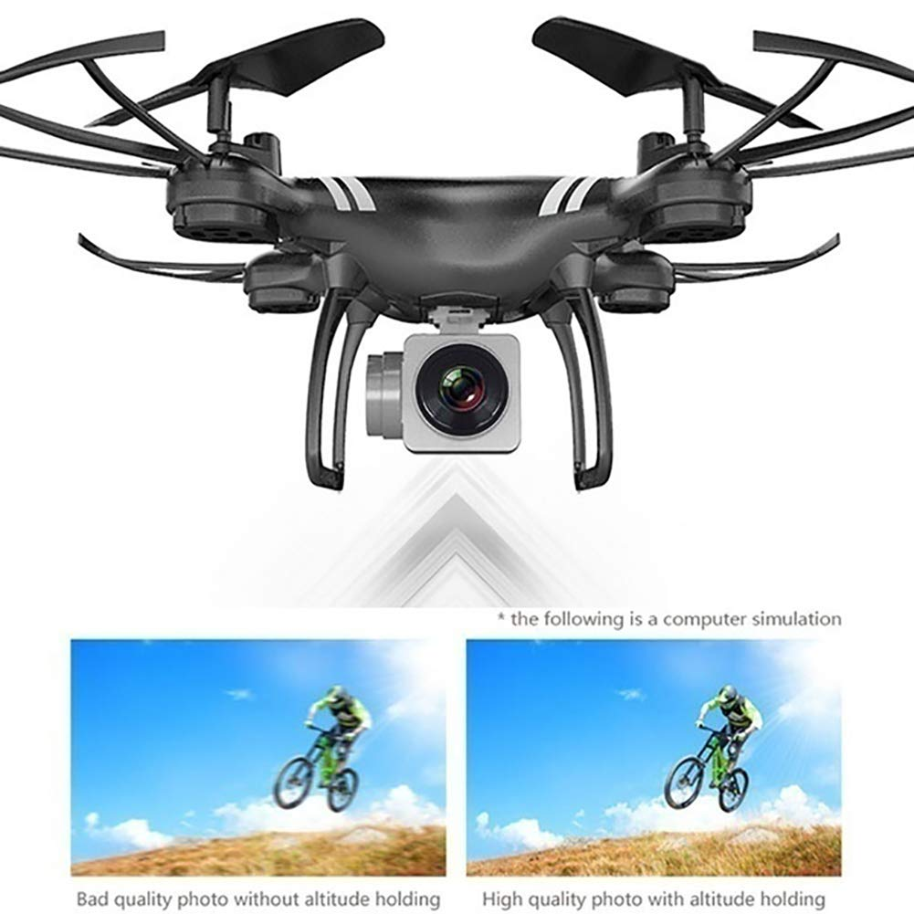Aland-Wide-Angle Camera High Definition Aerial Phone Control Aircraft Quadcopter Toy - Black 30w by Aland (Image #4)