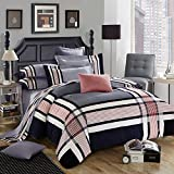 DHWM-Pure Cotton Mill with four piece, extra thick bedding sets, cotton bed linen supplies ,1.8m