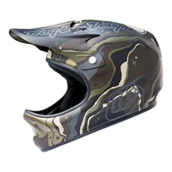 Troy Lee Designs D2 Galaxy - Casco de Ciclismo Multiuso, Color Verde, Talla Xsmall