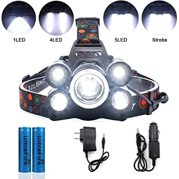 Headlamp Led Jirvy Ultra Bright Headlight 5000 Lumen Waterproof