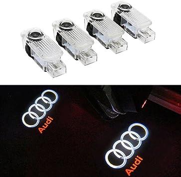 4 X LED Logo del Portello di Automobile di Illuminazione Entrata Proiettore Ombra di Benvenuto della Lampada della Luce