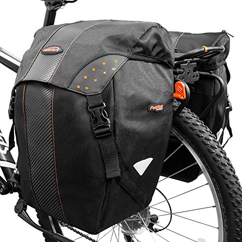 Ibera Bicycle Bag PakRak Clip-On Quick-Release All Weather Bike Panniers (Pair), Includes Rain Cover by Ibera (Image #4)