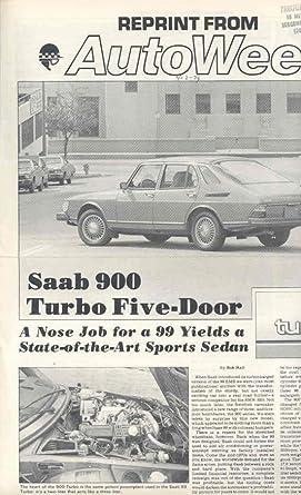 1979 Saab 900 Turbo Sales Brochure
