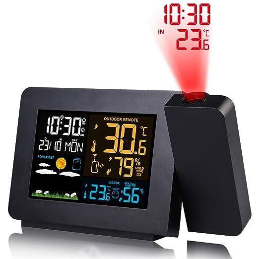 Reloj despertador de proyección,Proyector digital Reloj en techo ...