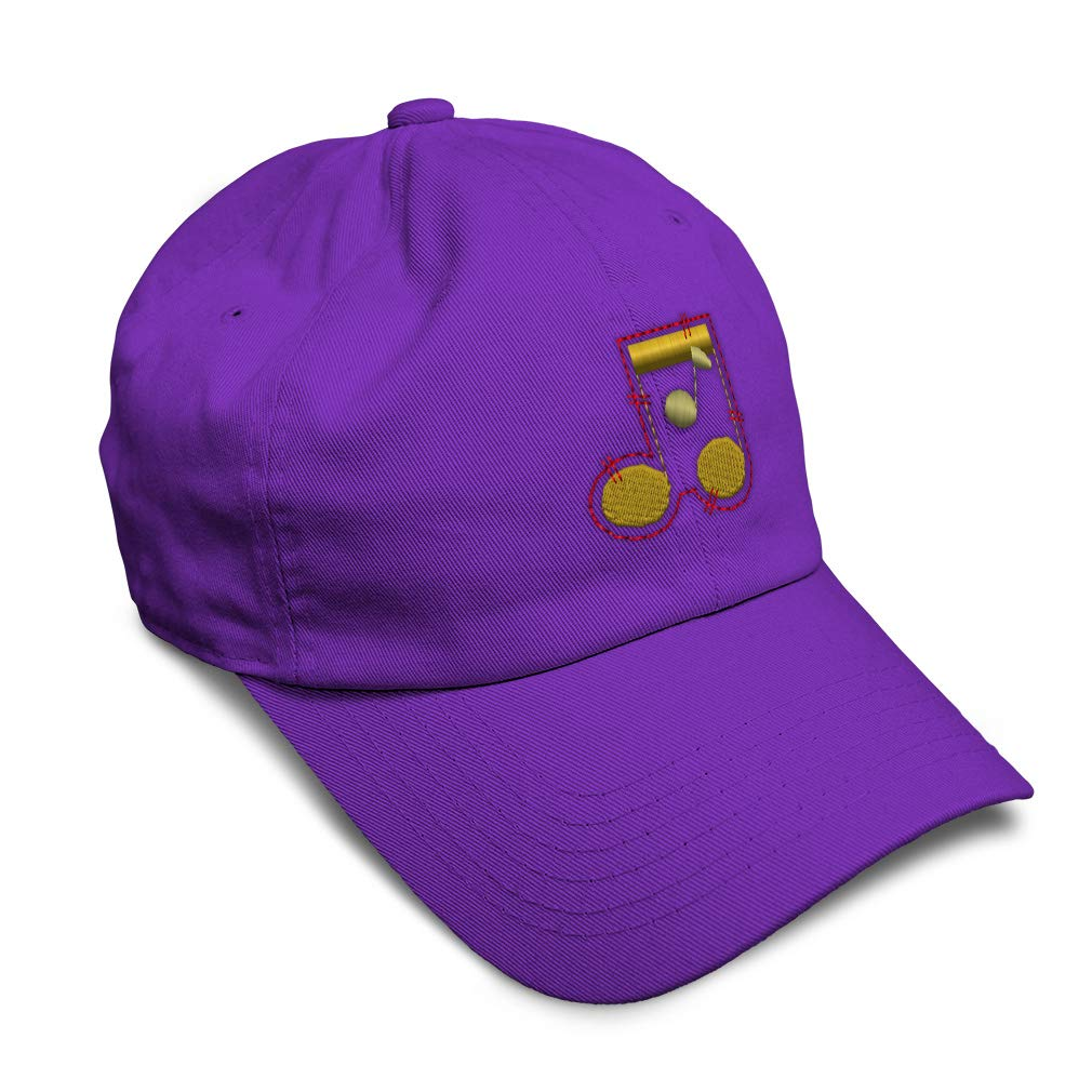 Custom Soft Baseball Cap Music Notes Embroidery Dad Hats for Men /& Women