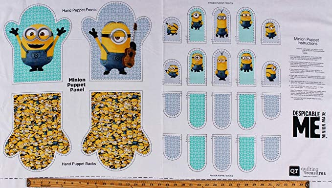 """Despicable Me 1 In a Minion orange 100/% cotton fabric by the panel 35/"""" X 43/"""""""