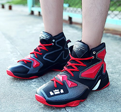 JiYe Performance Sportschuhe Herren Basketball Fashion Sneakers Schwarz Rot
