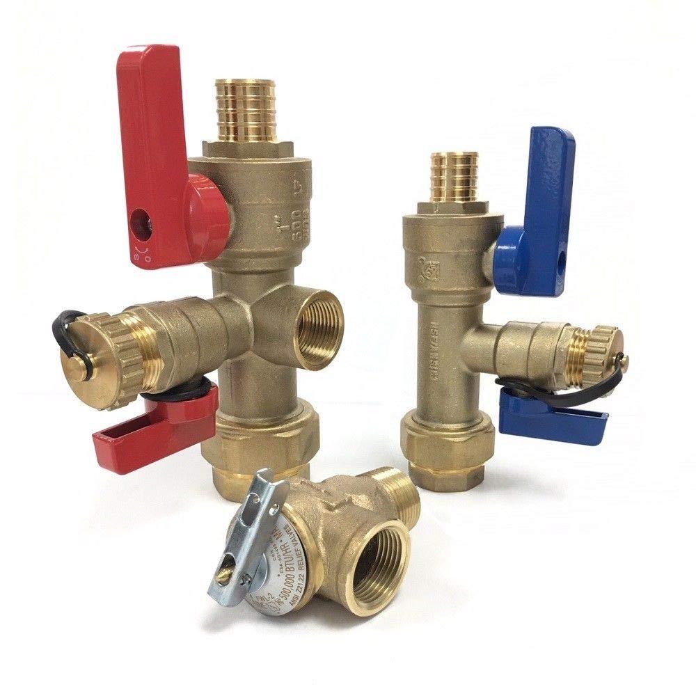 PEX 3/4 Tankless Water Heater Isolation Valves Kit Installation ...