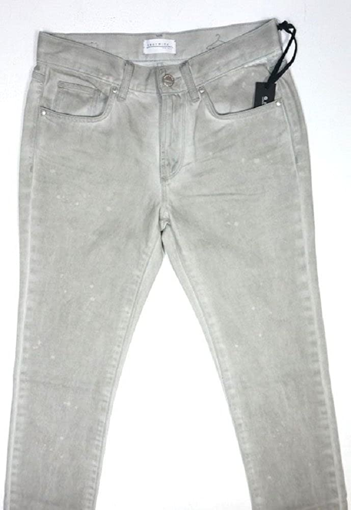 NEW MENS GREYWIRE NEW YORK GRAY WASH NATURALLY SPOTTED BROOKLYN DENIM JEANS