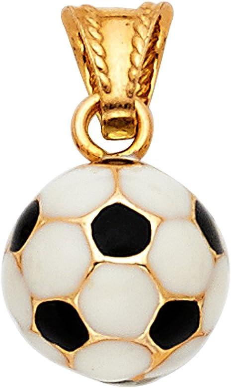 Top Gold & Diamond Jewelry Colgante de Pelota de fútbol de Oro ...