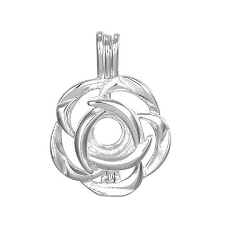 Amazon 10pcs flower jewelry making supplies silver plated bead 10pcs flower jewelry making supplies silver plated bead cage pendant add your own pearls aloadofball Gallery