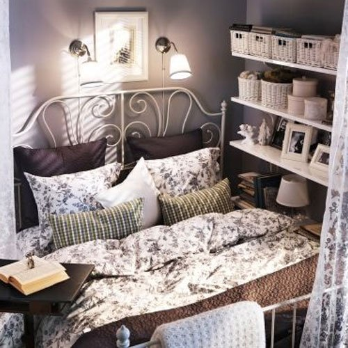 amazoncom ikea leirvik bed frame white full size iron metal country style kitchen dining