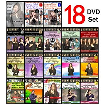 Amazon com: 18-DVD Complete American Sign Language DVD Library - NEW