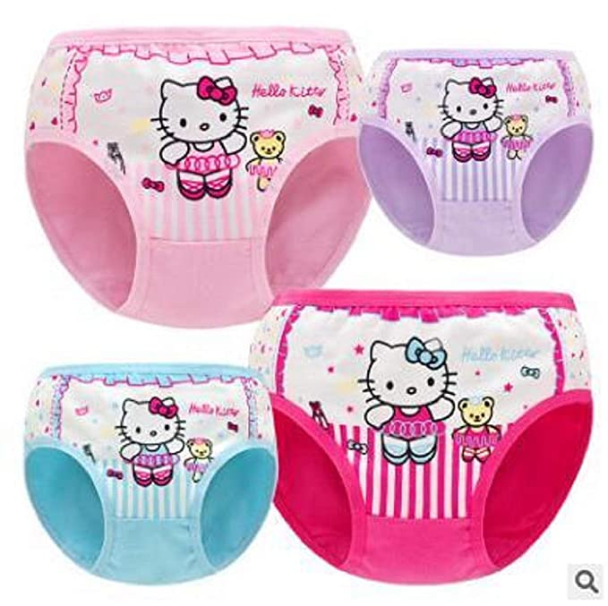 44afe2667 Image Unavailable. Image not available for. Color: 4pcs/lot Hello Kitty  Children's Underwear