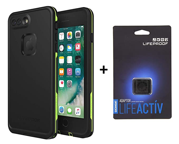 the latest 2f395 beeae Lifeproof FRĒ Series Waterproof Case for iPhone 8 Plus & 7 Plus (ONLY) -  Matching LIFEACTIV QUICKMOUNT Adapter (Night LITE)