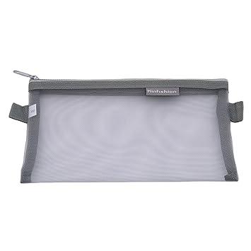 Amazon.com: unke cuadrícula claras estuche lápiz bolsas ...