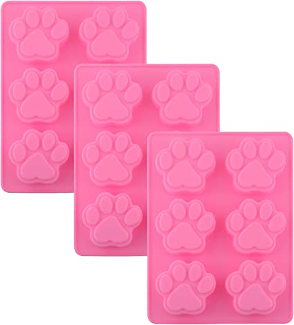 For Paw Patrol Cakes Silicone Dog Bone and Paw Print Mould