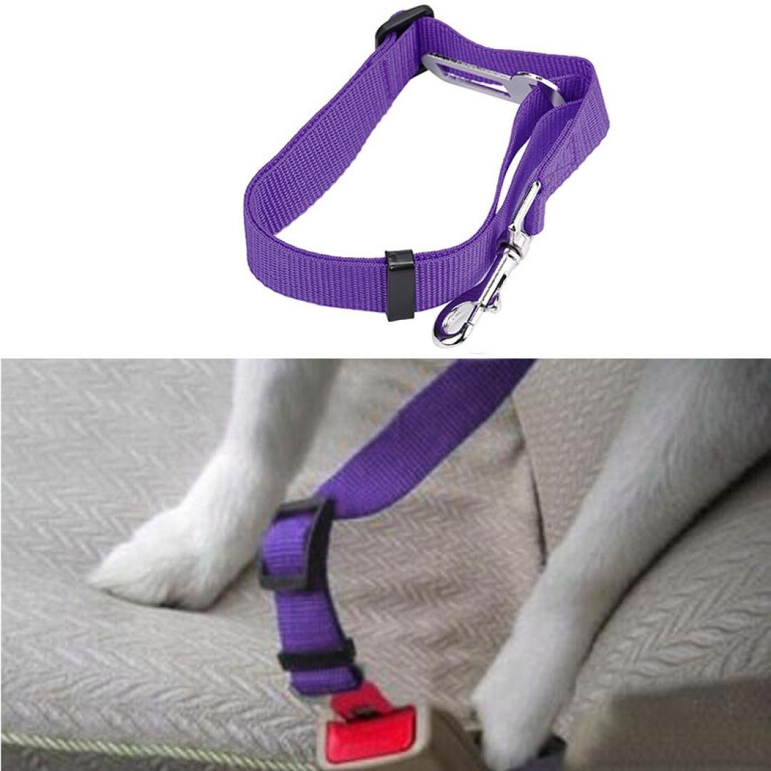 Letdown Pet Collars Safety Vehicle Car Seat Belt Seatbelt Lead Clip Pet Cat Dog (E)