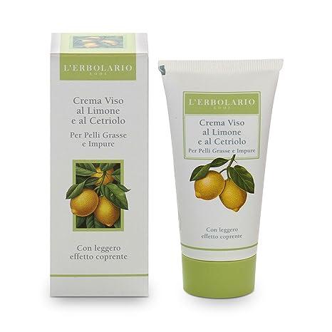 L erbolario limón y pepino crema facial para piel grasa