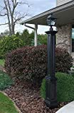 Mayne 5837-BK Signature Lamp Post Decorative Post
