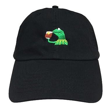 61471kelN4L._UX385_ amazon com kermit tea hat strapback none of my business emoji