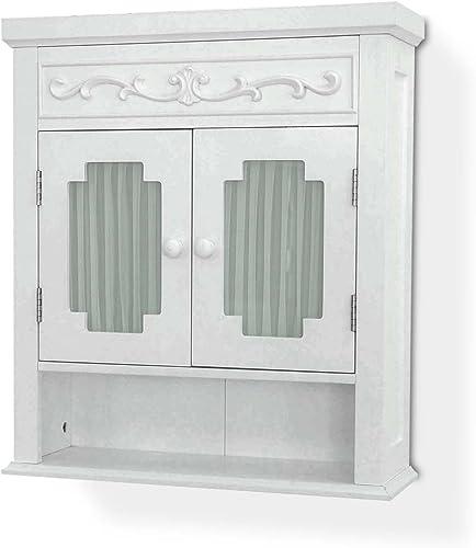 Elegant Home Fashions Lisbon Wall Cabinet, White