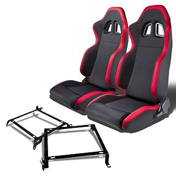 Par de rsxl01rd Racing asientos + soporte de montaje para ...