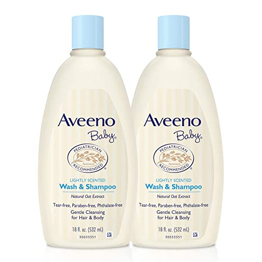 1. Aveeno Baby Gentle Wash & Shampoo with Natural Oat Extract - Best Gentle-Cleansing Baby Shampoo