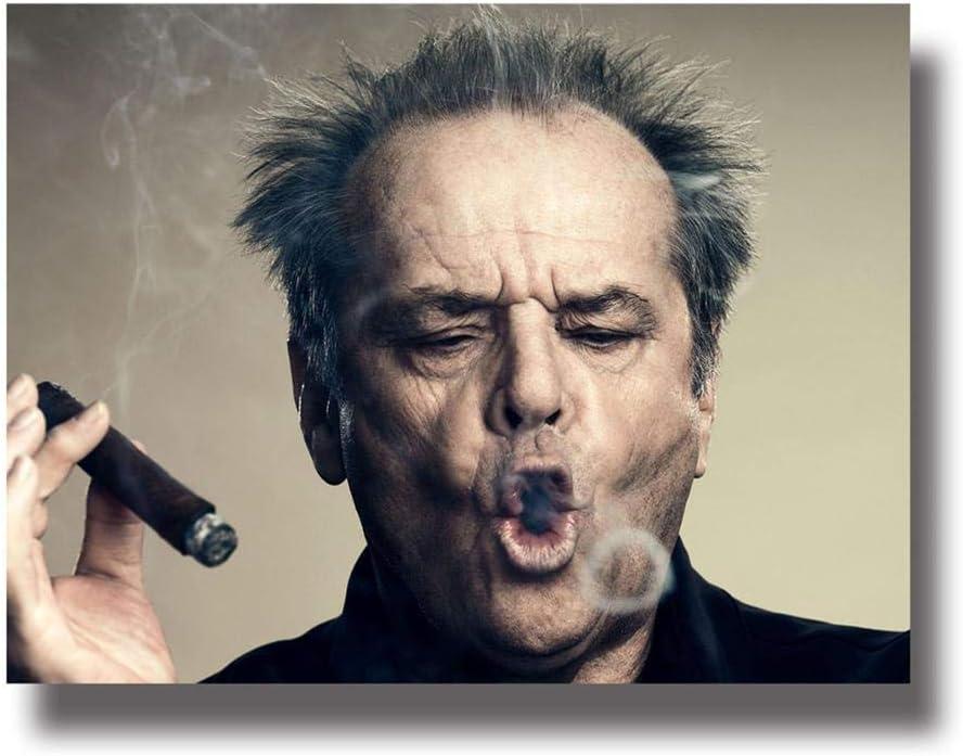 FPUYB Juego Aburrido Rompecabezas de Madera 1000 Piezas Noble en Caja Abstracta Lienzo Celebrity Jack Nichols Cigar Home Mesita de Noche Juegos coleccionables para Adultos y niños Pueden ser Regalos