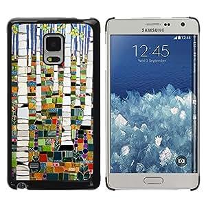 iKiki Tech / Estuche rígido - Forest Painting Abstract Birch - Samsung Galaxy Mega 5.8 9150 9152