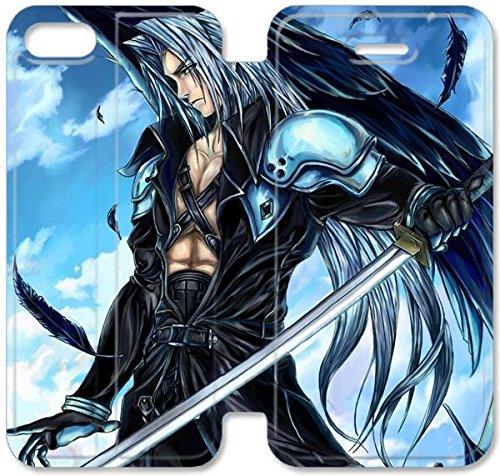 Klreng Walatina® Coque iPhone 6 6s Plus de 5,5 pouces Coque cuir Cools de Final Fantasy VII Sephiroth P2J0Mu