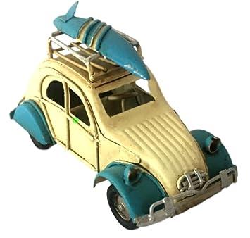 R.Faelens Chapa Auto Pato con Tabla de Surf Nostalgic Art Modelo Auto Chapa